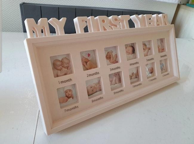 Cadre photo bébé 1 à 12 mois Neuf