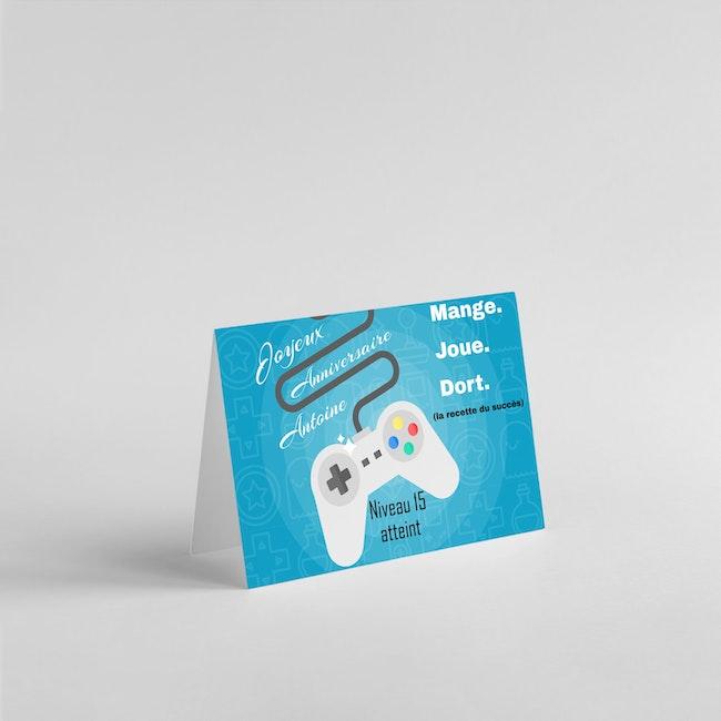 Carte anniversaire jeu vidéo
