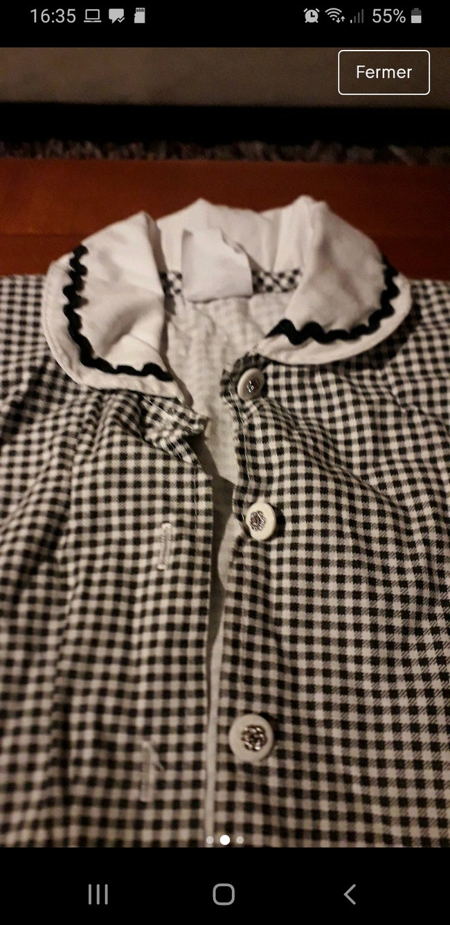 Chemise a carreaux pour bebe fille 24mois