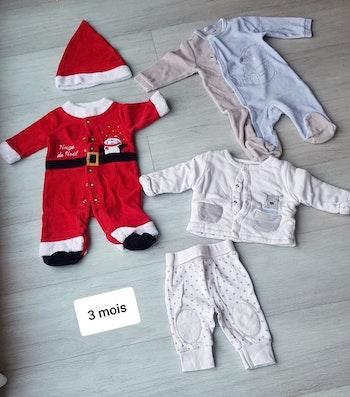 Lot de 3 pyjamas 3 mois