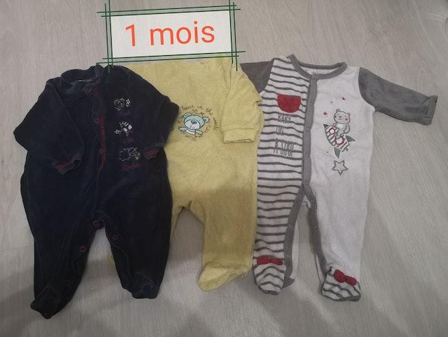 Lot 3 pyjamas velours
