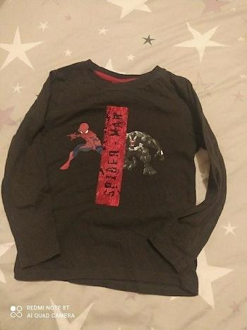 Tee-shirt spiderman manches longues garçon