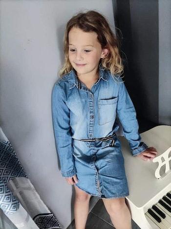 8 ans fille robe avec ceinture tape à l œil
