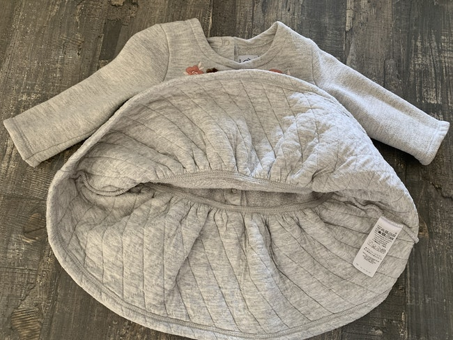 Robe bi matière petit bateau 9 mois