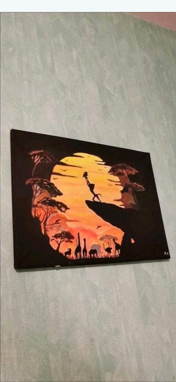 Lot de 3 toiles le roi lion
