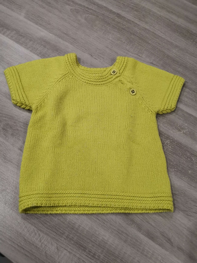 Pull laine manches courtes 36 mois