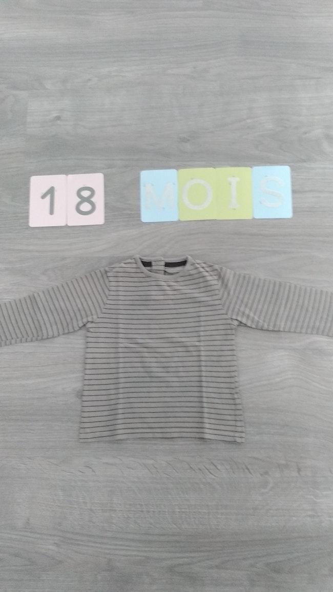 T shirt rayé manches longues Kitchoun