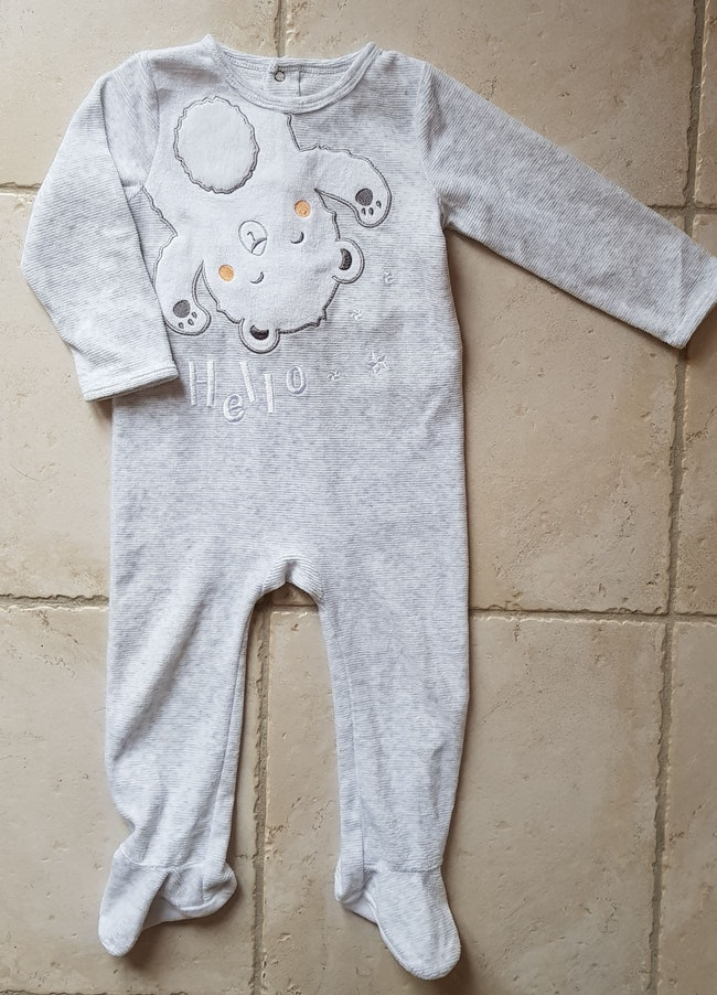 Lot pyjama chaud velours 12/24 mois Lupilu