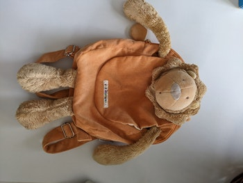 Sac a dos moulin roty peluche lion