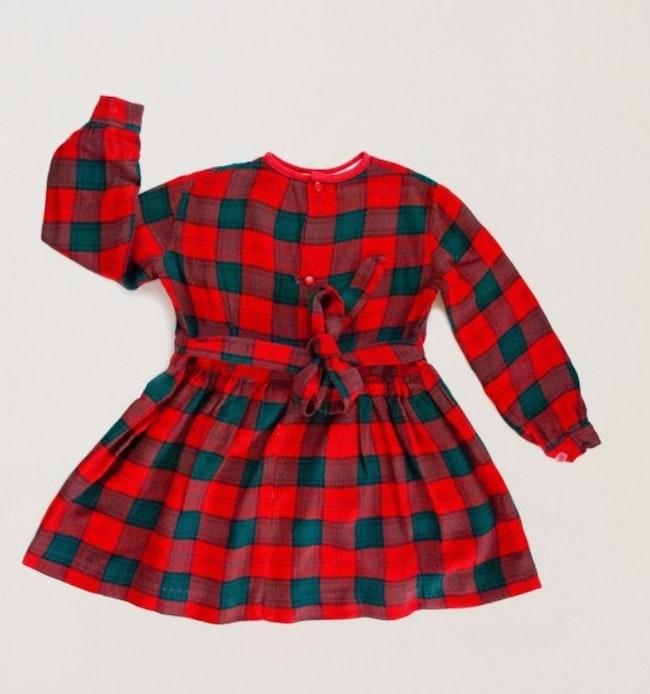Robe Tartan Rouge Et Vert Bouteille