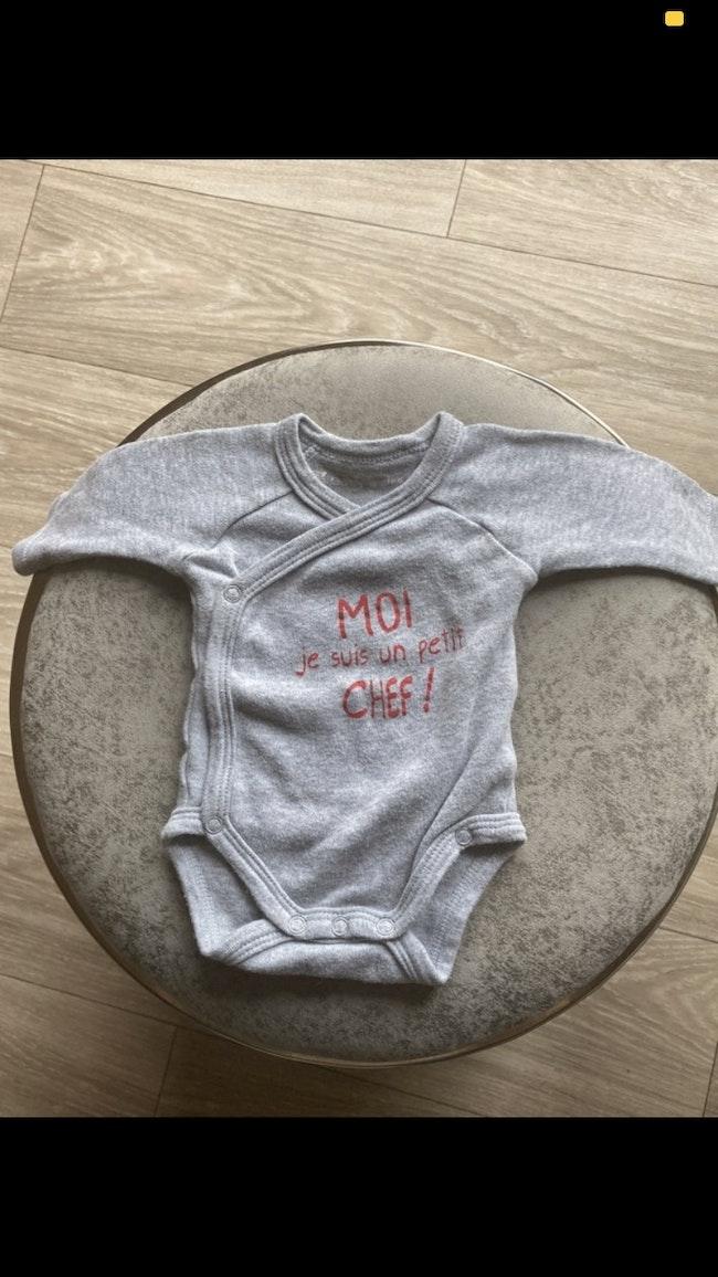 Bodies garçon taille naissance