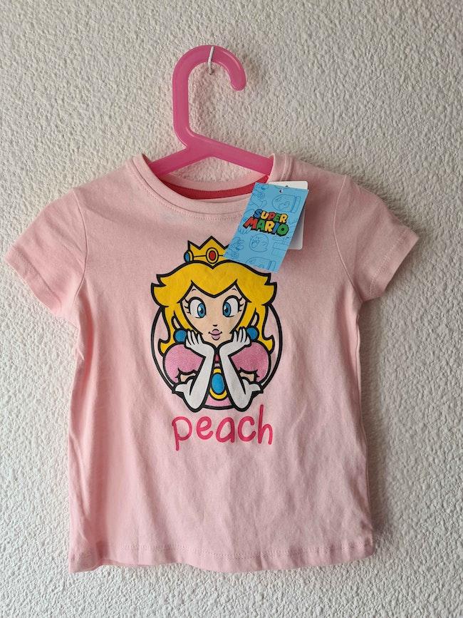 tee-shirt rose super Mario Nintendo