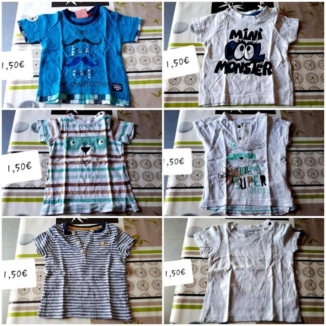 T shirts ML et MC garçon 6 mois