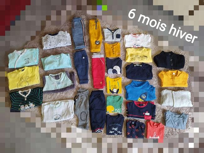 Lot 30 vêtements 6 mois garçon hiver