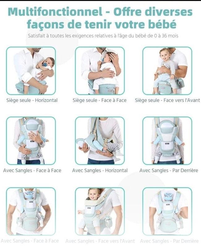 Porte- bébé multifonctions.