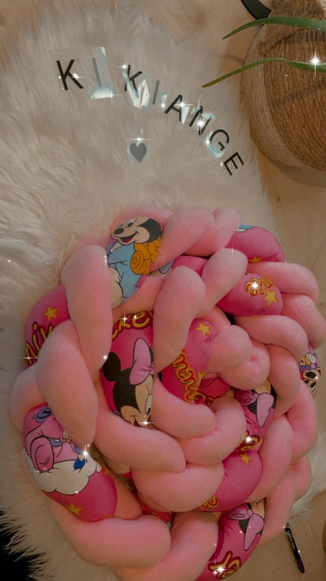 Ensemble tresse contour de lit et son plaide Minnie