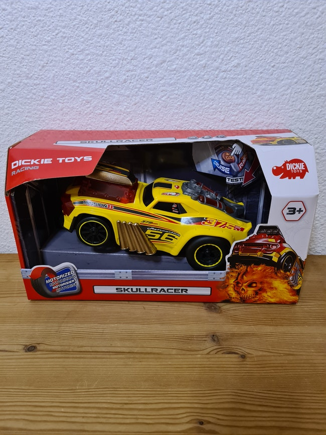 voiture jaune skullracer dickie toys