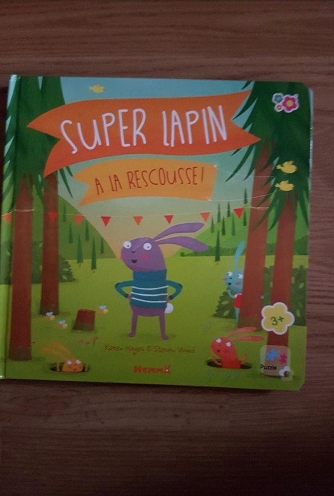 """Livre puzzle """"super lapin à la rescousse"""""""