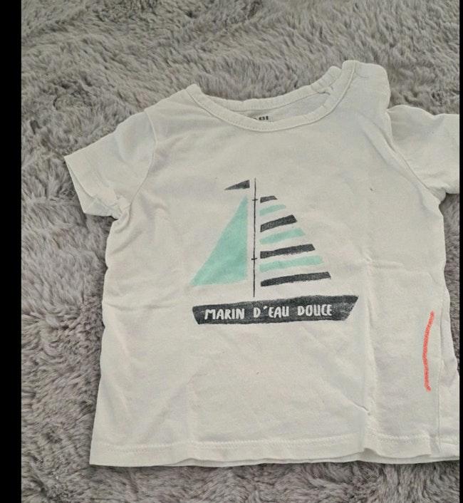 T shirt marin d'eau douce