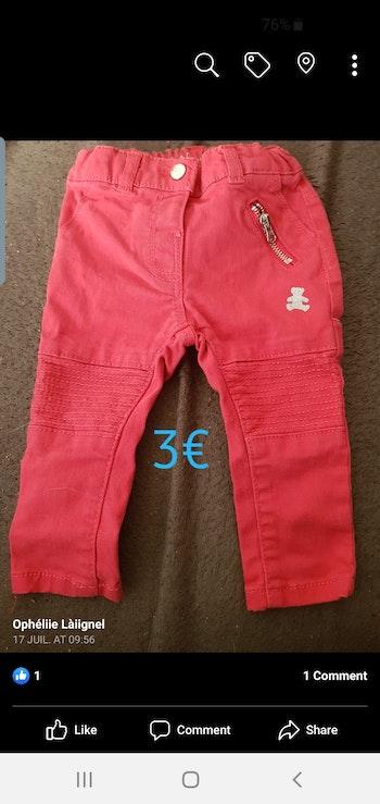Pantalon rouge 6mois