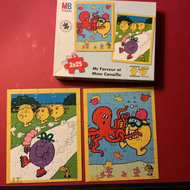 Puzzle M Farceur et Mme Canaille