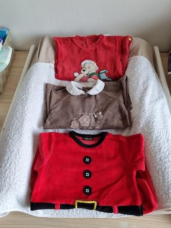Lot de 3 pyjamas de Noël 18 mois
