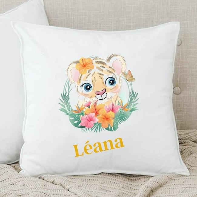 Coussin lionceau personnalisé
