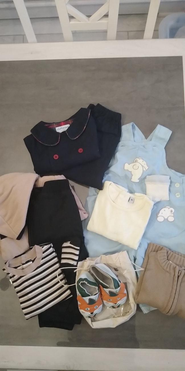 Lot vêtements hiver garçon 6 mois