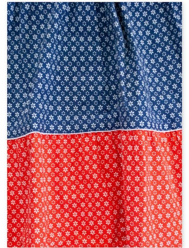 Jupe provençale bleue et rouge / 12 ans