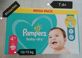Mega pack couches pampers baby dry