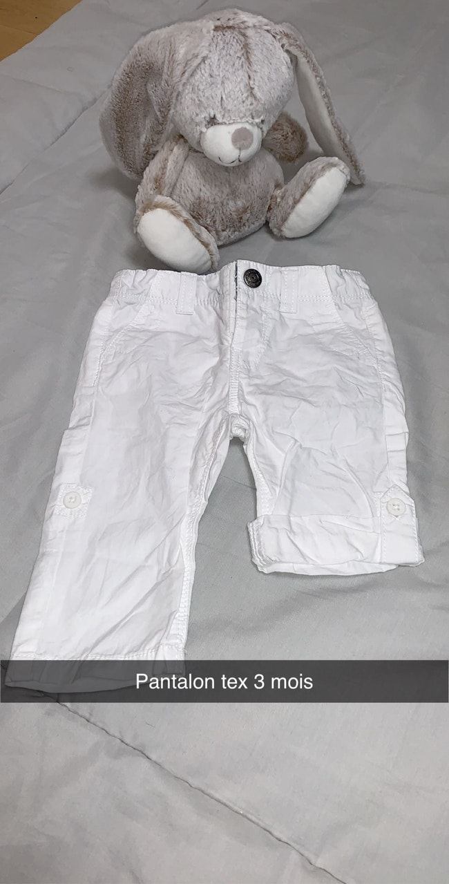 Lot de 4 pantalons en toile
