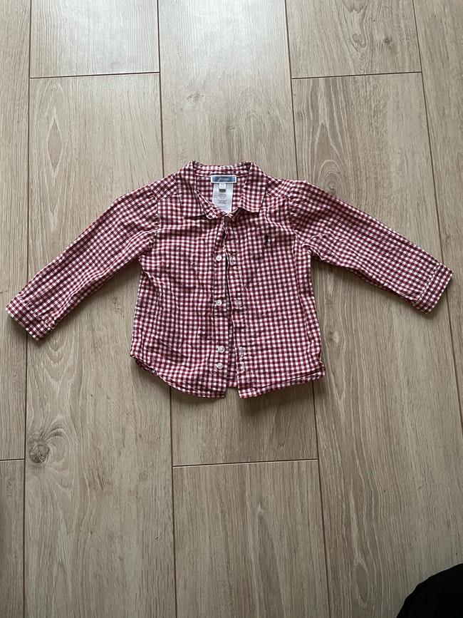 Lot 2 chemises à carreaux jacadi