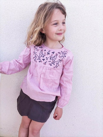 6 ans fille ensemble blouse et jupe