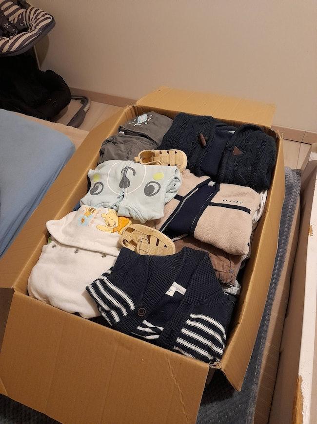 Lot de 75 vêtements garçons 6 mois