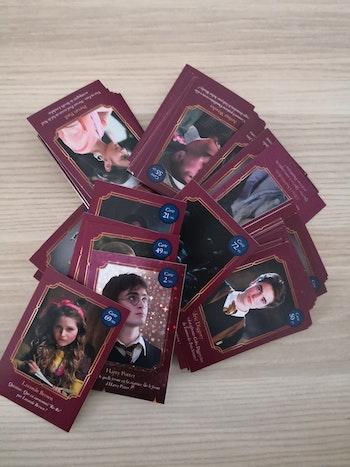 Gros lot de cartes Harry Potter auchan