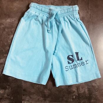 Short coton turquoise 2 ans