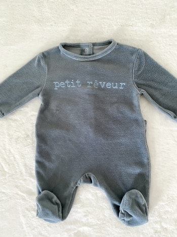 Pyjama 1 mois velours
