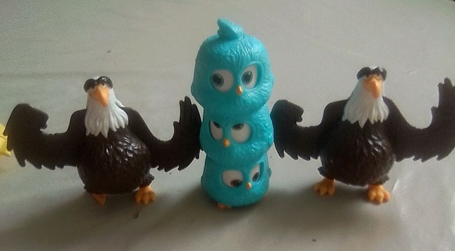Lot figurines Angry Birds