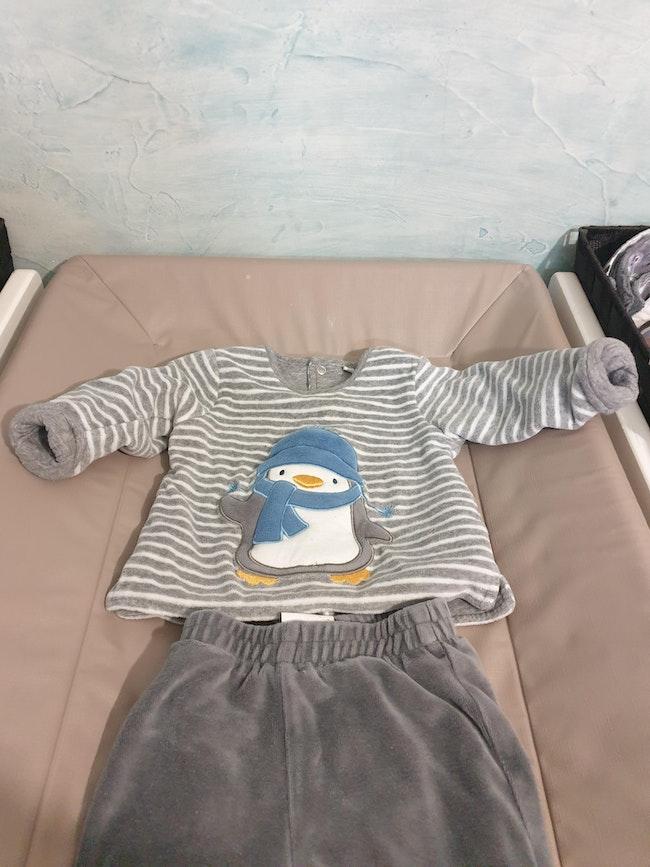 Pyjama en velours 2 pièces 6M