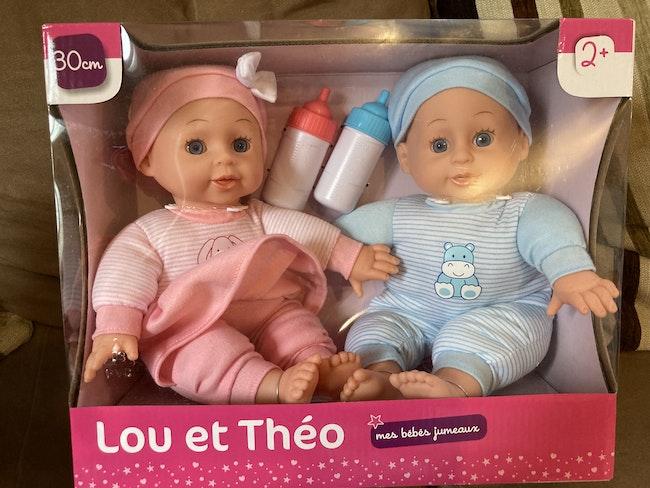 Coffret de poupons jumeaux