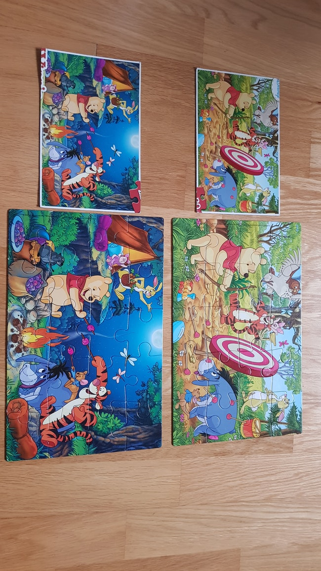 2 Puzzles 20 pièces Winnie l'ourson