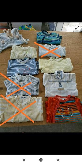 Lot vêtements garçon 1 mois