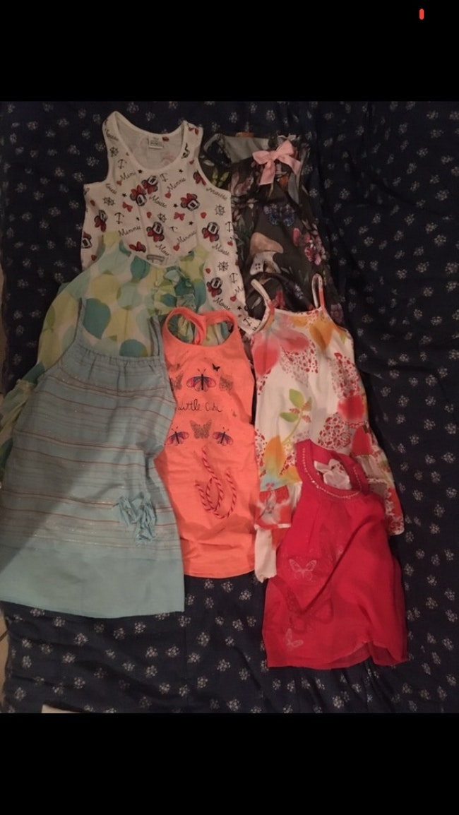 Lot vêtements fille été.