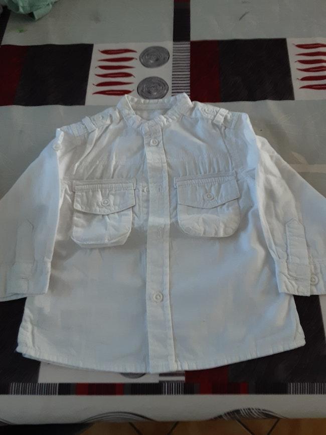 Chemise blanche 12 mois