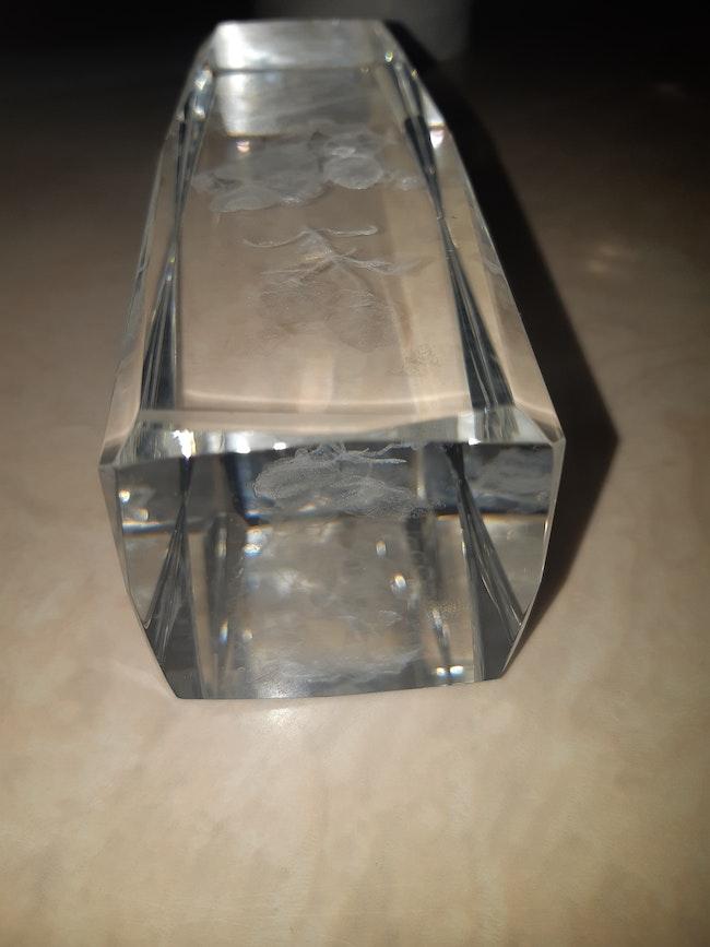 Gravure Nounours en verre