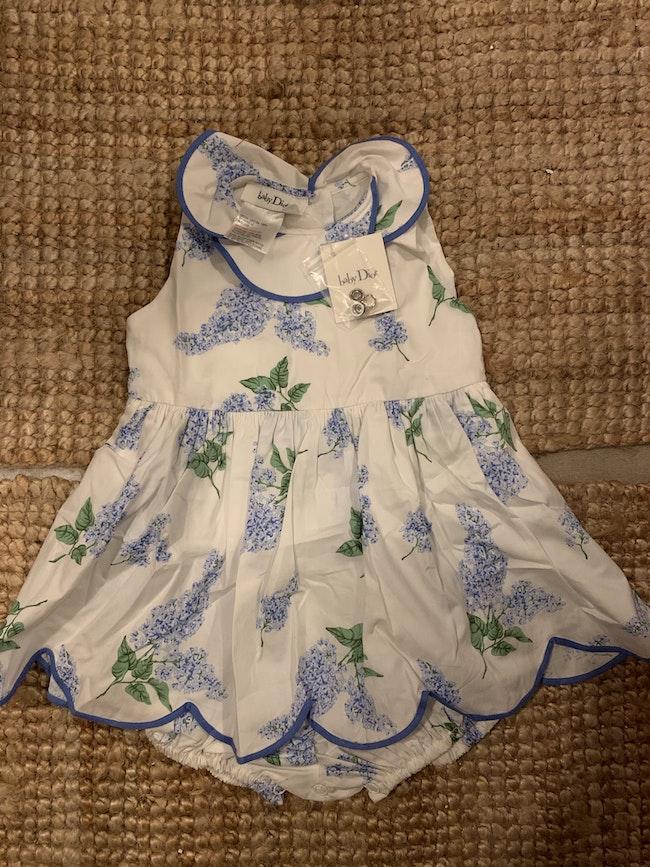 Robe Baby Dior fleurie Neuve
