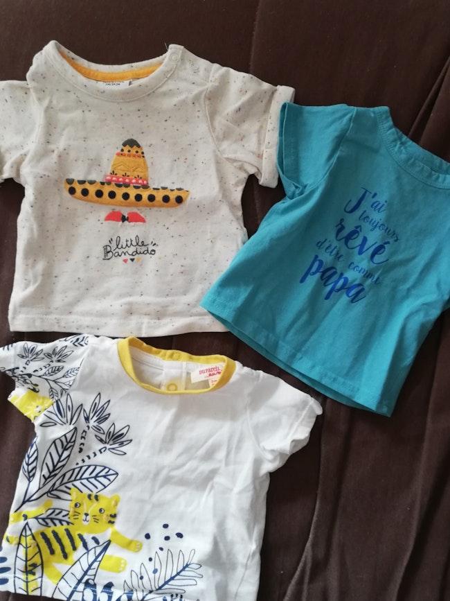 Lot de 3 tee shirt taille 3 mois
