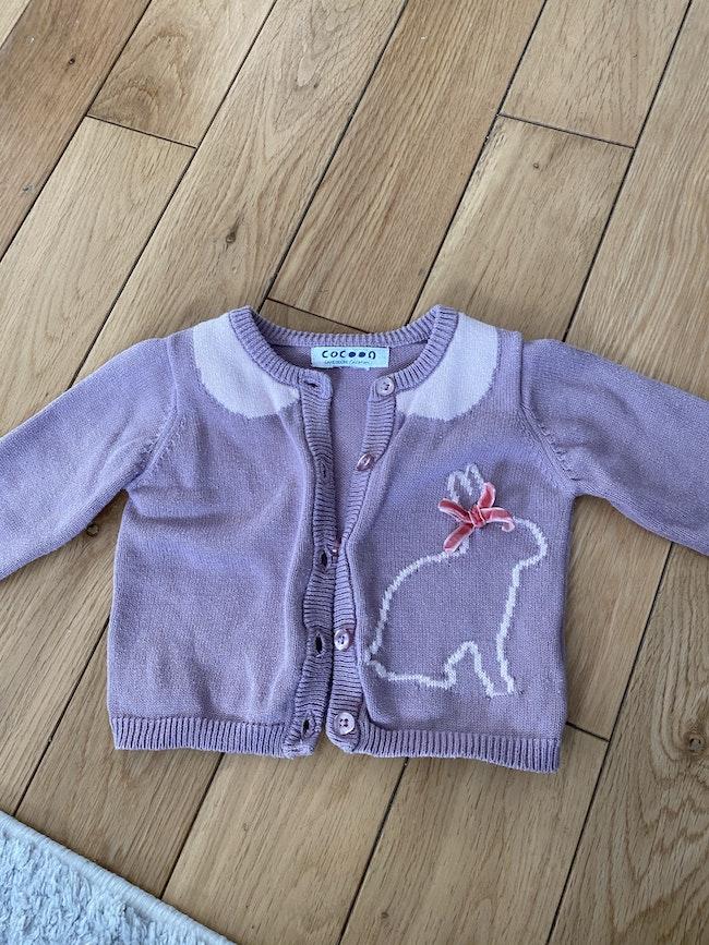 Gilet violet cocoon