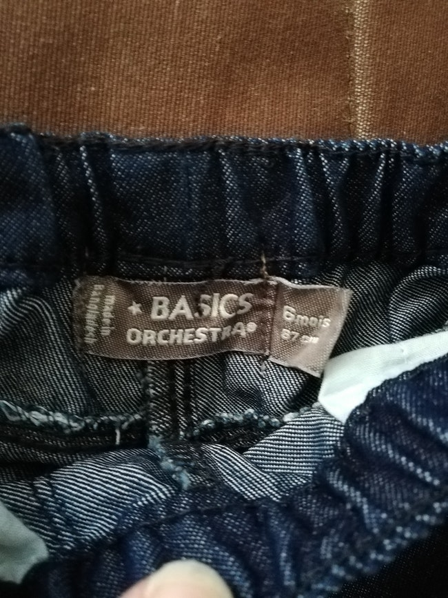 Jean orchestra taille 6 mois