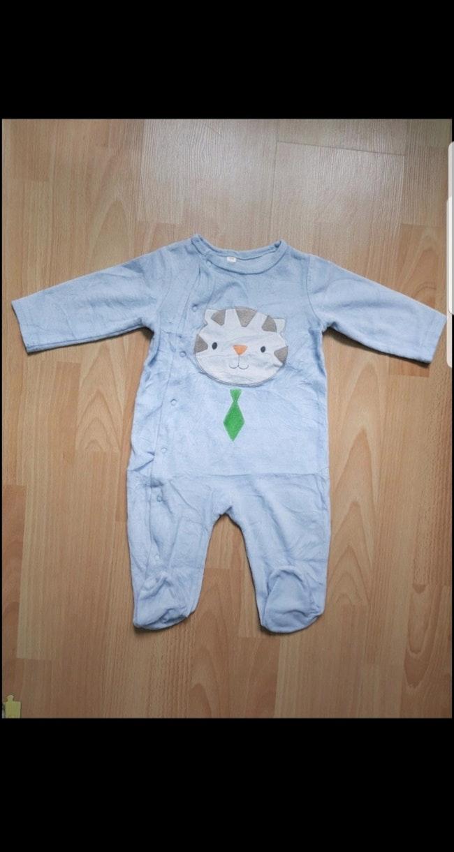 Grenouillère velours bébé garçon 12 mois